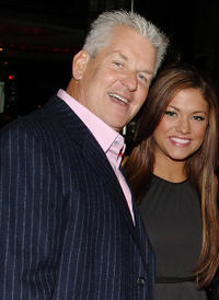 Lenny Clarke and Miss Teen USA Hilary Cruz at the