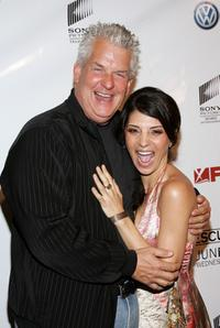 Lenny Clarke and Callie Thorne at the premiere of