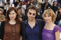 Emmanuelle Devos, Atom Egoyan and Dinara Droukarova at the 63rd Annual Cannes Film Festival.