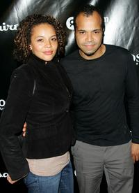 Carmen Ejogo and Jeffrey Wright at the Oxfam America charity event.