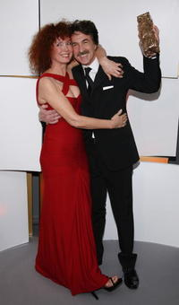 Sabine Azema and Francois Cluzet at the 32nd Cesars Film Awards ceremony.