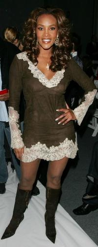 Vivica A. Fox at the Marc Bouwer Fall 2007 fashion show during Mercedes-Benz Fashion Week.