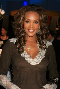 Vivica A. Fox at the Mercedes-Benz Fashion Week Fall 2007.