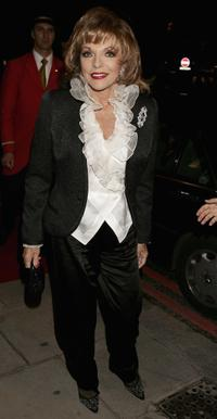 Joan Collins at the 80th birthday party.