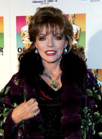 Joan Collins at the official New York celebration of the Academy Awards.