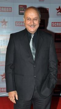 Anupam Kher at the Star Screen Awards.
