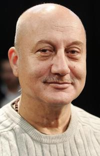 Anupam Kher at the photocall in London.