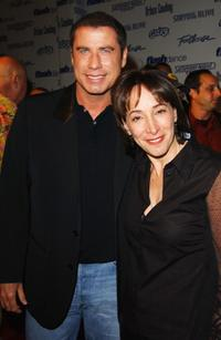 John Travolta and Didi Conn at the Celebration of Paramount Studio's 90th Anniversary.