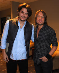 John Mayer and Keith Urban at the 2010 Keith Urban & Friends We're All For The Hall Benefit Concert in Nashville.
