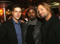 Matthew Fox, Harold Perrineau, Jr. and Josh Holloway at the after party of the premiere of