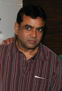 Paresh Rawal at the party in honour of the crew of Kanchivaram in Mumbai.
