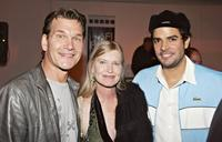 Patrick Swayze, wife Lisa Niemi and Nick Corri at