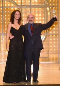 Aitana Sanchez Gijon and Bob Hoskins at the San Sebastian International Film Festival.