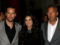 Kevin Costner, Dane Cook and Demi Moore at the premiere of