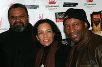 John Cothran, Jr., Stephanie Allain and John Singleton at the premiere of