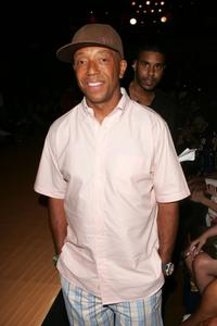 Russell Simmons at the Baby Phat Spring 2008 Fashion Show during the Mercedes-Benz Fashion Week Spring.
