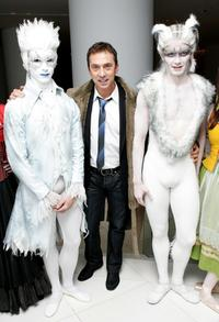 Bruno Tonioli with dancers at the VIP performance of