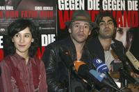 Sibel Kekilli, Birol Unel and Fatih Akin at the 54th Annual Berlin International Film Festival.