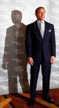 Daniel Craig at a press conference before a China screening of