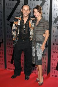 Victoria Abril and Custo Dalmau at ELLE Magazine XX Anniversary Party.