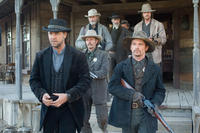 Russell Crowe,Chad Brummett, Luce Rains, Peter Fonda, Christian Bale and Lennie Loftin in