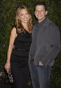 Jon Cryer and wife Lisa Joyner at the CBS celebration of Monday night season premieres.