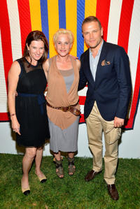Julia Molnar, Patricia Arquette and David Cubitt at the 2nd Annual Art Auction and Fundraiser in California.