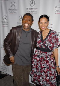 Vondie Curtis-Hall and Shari Headley at the Mercedes Benz Fashion Week.