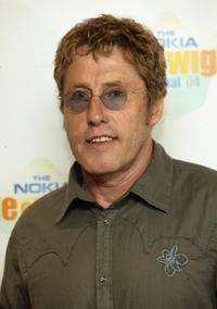 Roger Daltrey at the backstage during the Nokia Isle of Wight Festival 2004.