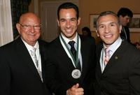 Angelo Dundee, Helio Castroneves and Ray Mancini at the 23rd Annual Great Sports Legends Dinner to Cure Paralysis.