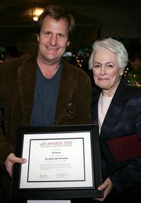Jeff Daniels and Picker Firstenberg at the AFI Awards 2005 Luncheon.