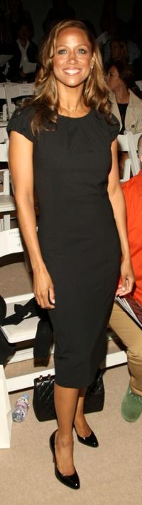 Stacey Dash at the Dennis Basso Spring 2009 fashion show during the Mercedes-Benz Fashion Week.