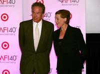 Julie Andrews and Warren Beatty at the afi's 40th Anniversary celebration.