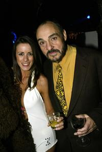 Nicola T and John Rhys-Davies at the premiere party of