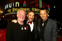 Bernard Hill, John Rhys-Davies and Viggo Mortensen at the premiere of