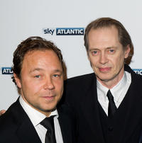 Stephen Graham and Steve Buscemi at the launch of the Sky Atlantic channel in England.
