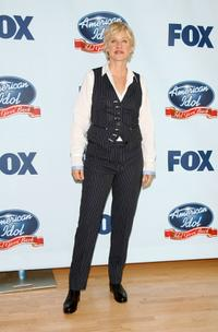 Ellen DeGeneres at the press room during American Idol Gives Back.