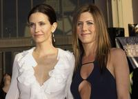 Courteney Cox Arquette and Jennifer Aniston at the 9th Annual Screen Actors Guild Awards.