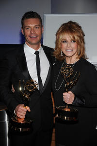 Executive producer Ryan Seacrest and Ann-Margret at the 62nd Annual Primetime Creative Arts Emmy Awards.