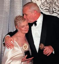 Brian Dennehy and Judi Dench at the Tony Awards on 06 June 1999.