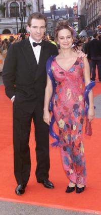 Francesca Annis and Ralph Fiennes at the BAFTA Awards at the Odeon Cinema Leicester Square.