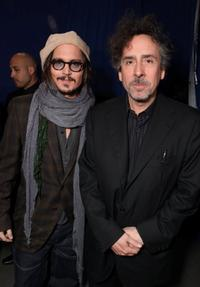 Johnny Depp and Tim Burton at the Alice In Wonderland Ultimate Fan Event.