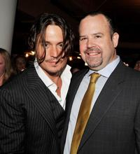 Johnny Depp and Marc Shmuger at the after party of the Illinois premiere of