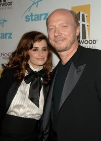 Penelope Cruz and Paul Haggis at the Hollywood Film Festival 10th Annual Hollywood Awards Gala Ceremony.