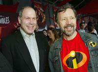 Michael Eisner and Ed Catmull at the premiere of