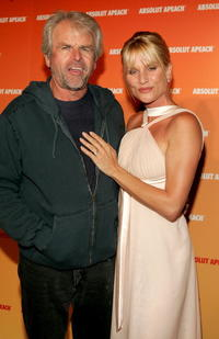 William Devane and Nicollette Sheridan at the Absolute Apeach launch.