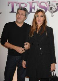 Alain Chabat and Mathilde Seigner at the premiere of