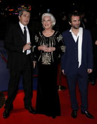 Alain Chabat, Bernadette Lafont and Director Eric Lartigau at the 32nd Cesars French Film Awards Ceremony.