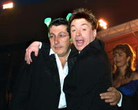 Alain Chabat and Mike Myers at the 54th Cannes Film Festival.