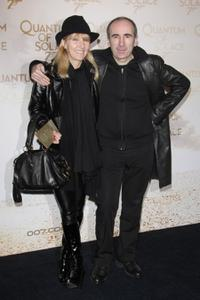Philippe Harel and his wife at the Paris premiere of